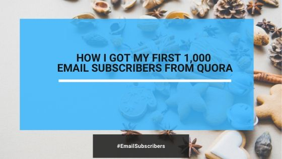 How I Got My First Highly Targeted 1000 Email Subscribers