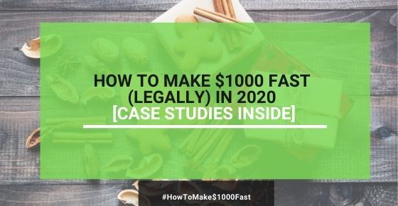 how to make $1000 fast